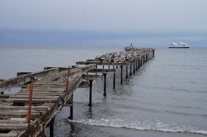 푼타아레나스에서 바라본 바다. 무사히 남극에 갈 수 있을까 걱정되었다 - 전현정 제공